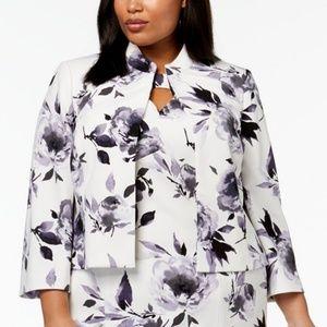 Kasper Womens Floral Print Jacket